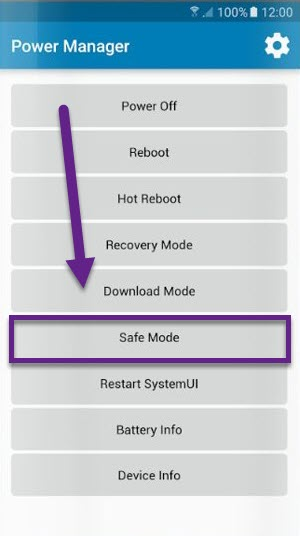 Power Manager Safe Mode